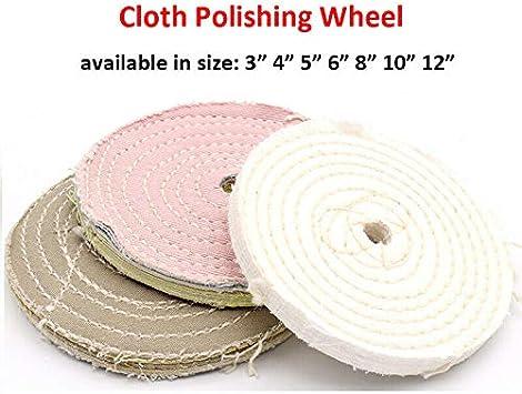 1 disco de pulido cosido en espiral de tela de algodón, grosor de ...