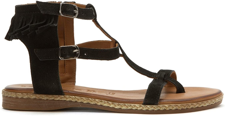 Tamaris Weave Black Suede Women's Sling Sandal Size 409 9.5
