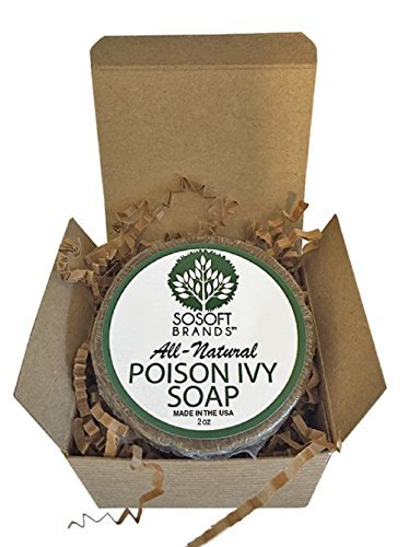 SoSoft Brands All-Natural Hand Crafted Poison Ivy Soap Bar Proudly Made in the USA 2oz (Just like Burts Bees)