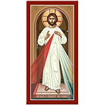 Monastery Icons Divine Mercy Icon of Christ Mounted Plaque Icon Reproduction