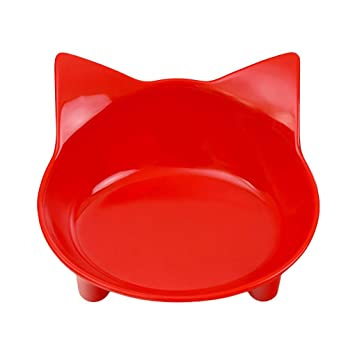 Platos de Las Mascotas Cuencos Comida para Gatos Cuencos de Agua Cat Ancho y Poco Profundo Alivio del estrés Fatiga Diseño Lindo del alimentador Regard: ...
