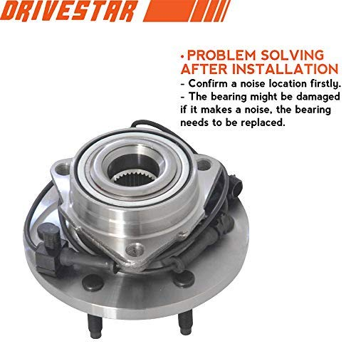 DRIVESTAR 515093 New Front Driver or Passenger Wheel Hub & Bearing for 06-10 Hummer H3 w/ABS