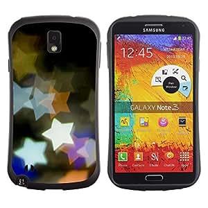 Suave TPU GEL Carcasa Funda Silicona Blando Estuche Caso de protección (para) Samsung Note 3 / CECELL Phone case / / Design Bokeh Stars /