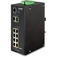PLANET IGS-10020PT / Industrial 8-Port 10/100/1000T 802.3af PoE + 2-Port 100/1000X SFP Managed Switch with Wide Operating Temperature