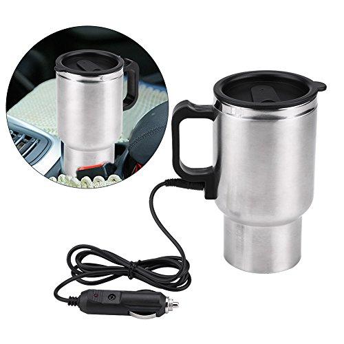 Jadeshay Termo eléctrico - Taza eléctrica de la calefacción del Viaje de la Taza de la Caldera del Coche de Acero...