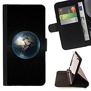 DEVIL CASE - FOR Samsung Galaxy S3 Mini I8190Samsung Galaxy S3 Mini I8190 - Space Planet Minimalist Bubble - Style PU Leather Case Wallet Flip Stand Flap Closure Cover