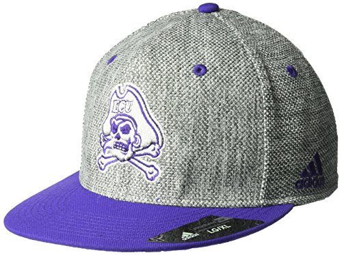 adidas NCAA East Carolina Pirates Fanwear Square Crown Flex, Large/X-Large, Gray (Logo East Square Carolina)