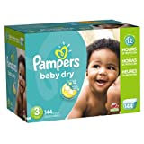 Pampers Pañales Desechables Baby Dry, Talla 3, 144 Piezas
