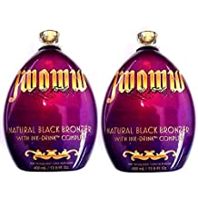 Lot of 2 Australian Gold Jwoww Natural Black Bronzer Tanning Bed Lotion by Millennium Tanning Products