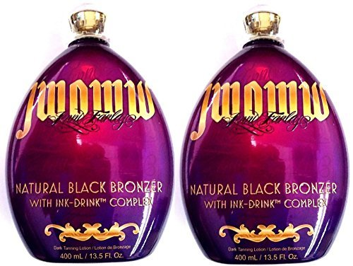Lot of 2 Australian Gold Jwoww Natural Black Bronzer Tanning Bed Lotion by Designer Skin (Image #1)