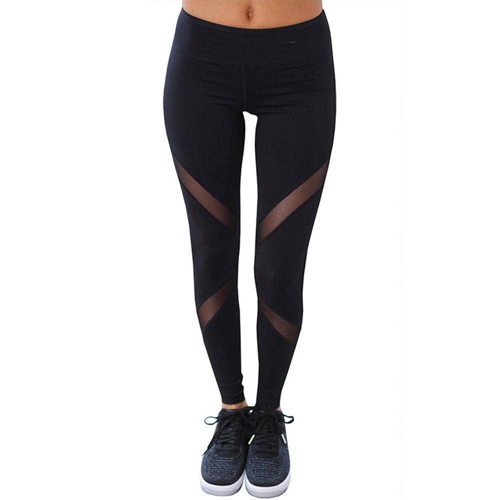 Black03 JCMD Women Patchwork Fitness Running Leggings Women Workout Yoga Trainning Pant Fitness Sportswear Female Black Yoga Pants
