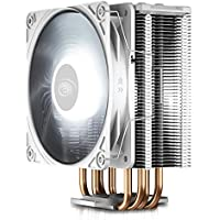 DEEP COOL GAMMAXX GTE V2 White, CPU Air Cooler with 4 Heatpipes, White Top Cover with Logo, Black Fins and Fan, 120mm…