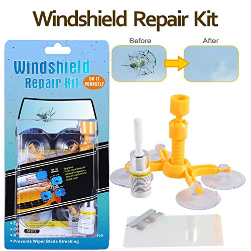 (Do-It-Yourself Auto Windshield Crack Repair Kit - Windshield Repair Kit for Car Windscreen/Glass Rock Chip, Bulls Eye, Star, Half Moon Repair)