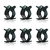 KINGLAKE 100Pcs Large Size Orchid Clips Garden Plant Flower Support Clips for Supporting StemsVinesDark Green (97130)