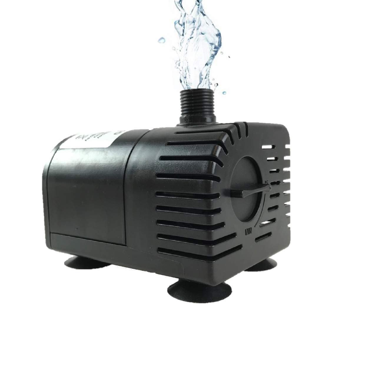 AEO Dry-Run Protection 12V-24V DC Brushless Submersible Water Pump, 410GPH, for Solar Fountain, Fish Pond, and Aquarium