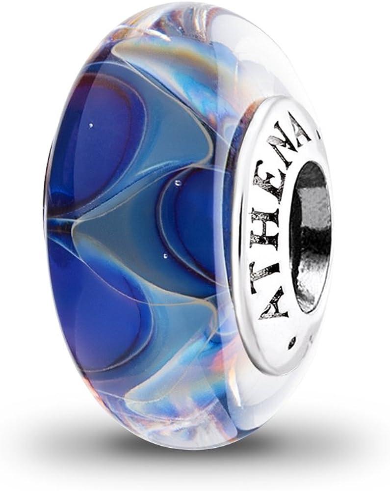 ATHENAIE Murano Glass 925 Sterling Silver Ocean Secret Charms Beads fit European Bracelets