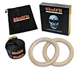 SkulFit Gymnastic Rings, 2 Open Pore Birch Rings, 2 Extra Long Heavy Duty Straps, Carry Bag, Meal Plan, and FREE Online Workout Tutorials Review
