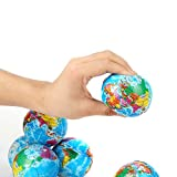 world ball - Fun Central BC735 24 Pieces 3 Inch World Squeeze Ball, Stress Balls, Squeeze Ball Set, Learn Geography for Fun! - for Birthday, Party Favors, Rewards, Souvenir, and Giveaways - 2 Packs of 12 Pieces