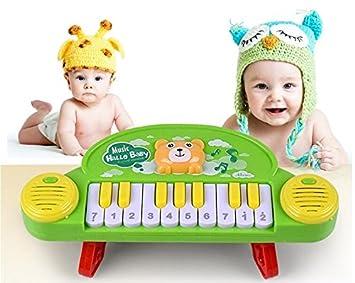 SKNSM Gracioso Bebé Niños Niño Musical Piano Animal Teclado electrónico Juguetes (Colorido) para niños: Amazon.es: Hogar