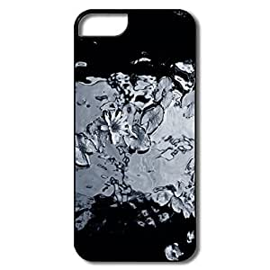 Iphone 5/5S Case Designed With Funny Water Lily Monochrome