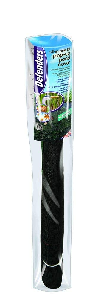Stv Defenders 2.4 x 1.2 m All-in-One Kit with Pop-Up Pond Cover (Humane Garden Pond Protector, Cat and Heron Deterrent, Keeps Out Leaves)