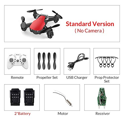 Eachine E61/E61hw Mini Drone with/Without HD Camera High Hold Mode RC Quadcopter RTF WiFi FPV Foldable RC Drone redstandard2battery