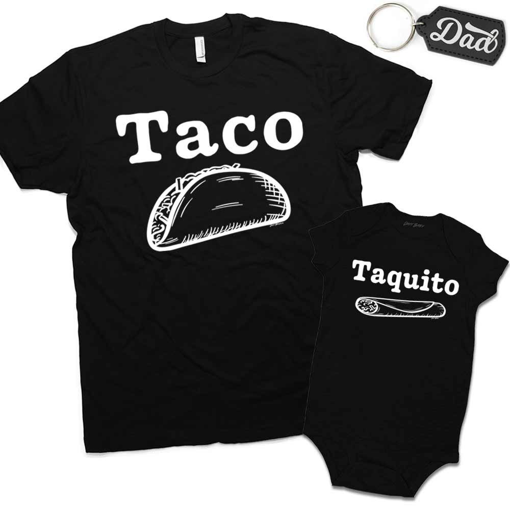 Daft Baby | Taco & Taquito Dad & Baby Matching Clothing Set Shirt Funny Halloween Costume