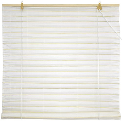 Oriental Furniture Shoji Paper Roll Up Blinds - White - (24 in. x 72 (Rice Paper Doors)
