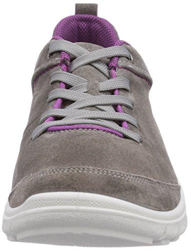Legero SALO - zapatos con cordones de piel mujer gris - Grau (METALL 92)