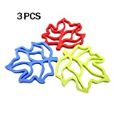 3Pcs - Premium Quality Maple Leaf Style Silicone Heat Insulation Pad