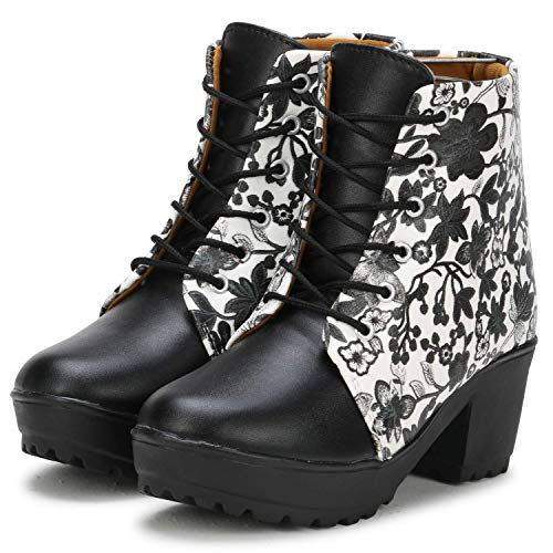 Commander: Latest Collection of Floral Pattern High Ankle Boots for Women & Girls