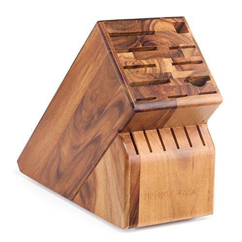 17 Slot Knife Block Block Finish: Acacia Knife Block