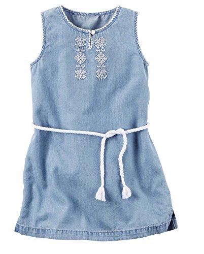 Dress Carter's Embroidered Chambray Girls Sleeveless g7w7XI
