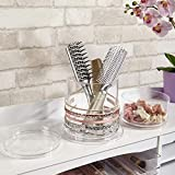 Stackable Clear Plastic Headband and Hairbrush