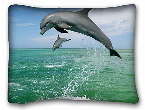 Amazon.com: Custom (Animals Dolphin sea Blue aquarium nice)  Pillowcase Standard Size 20