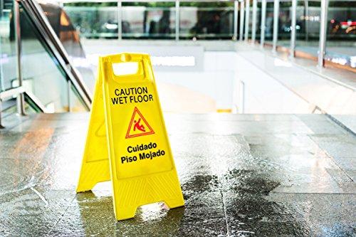 Caution Wet Floor In A Kitchen