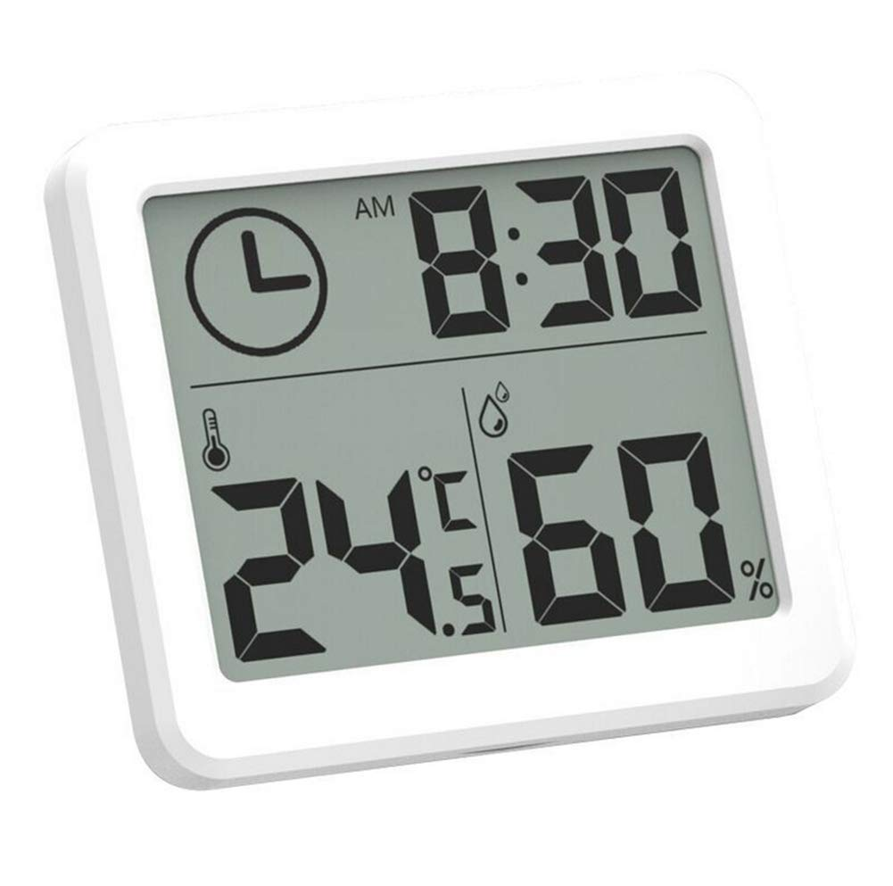 2PCS 1cm Thin and Simple Smart Home Electronic Digital Thermometer and Hygrometer Household Thermometer Indoor Dry Hygrometer