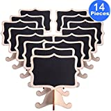 AUSTOR 14 PCS Mini Chalkboard Signs with Stand for Weddings Place Cards, Parties, Message Board Signs and Decorating
