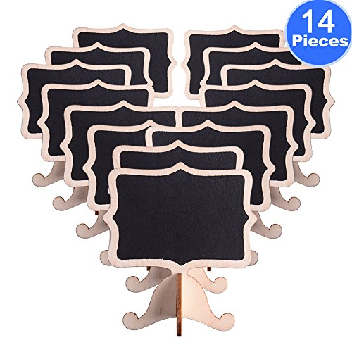 AUSTOR 14 PCS Mini Chalkboard Signs with Stand