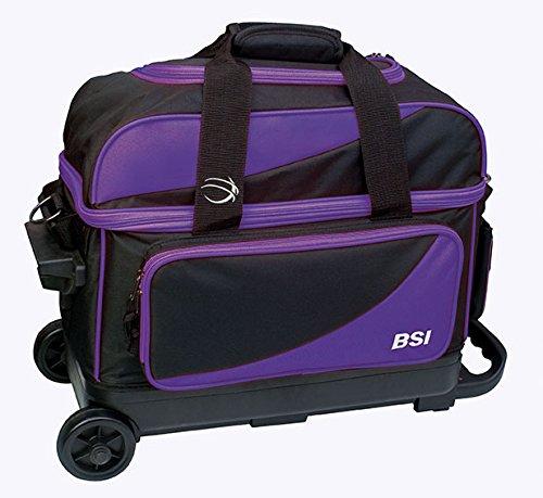 BSI Double Ball Roller Bowling Bag, Black/Purple