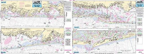 Inshore South Coast of Long Island, NY - Laminated Nautical Navigation & Fishing Chart by Captain Segull