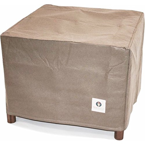 Duck Covers Elite Square Patio Ottoman or Side Table Cover, 26-Inch (Outdoor Square Side Table)