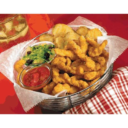 Fishery Breaded Clam Strip, 4 Ounce -- 24 per case.
