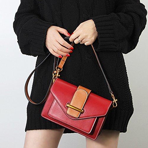 LF épaule à bandoulière fashion portés en Sac Rouge Sac femme main Sac Valin cuir 186 1dwPqBB