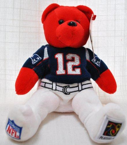 NEW ENGLAND PATRIOTS TOM BRADY #12 NFL FOOTBALL 8IN SPECIAL FABRIC UNIFORM PLUSH TEDDY - 12 Plush Nfl