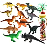 Kennedy 12 Pieces Realistic Animals Models Dinosaur Models Toy Ocean Creatures Moldes Children Education Cognitive Toy -Including A Storage Barrel