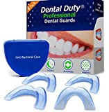 Facial Jaw Pain Symptoms - Professional Dental Guard -4(pack)- Stops Teeth Grinding, Bruxism, Tmj, & Eliminates Teeth Clenching .All Orders includes Fitting Instructions & Anti-Bacterial Case. 100% Satisfaction Is guaranteed!