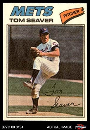 Amazoncom 1977 Topps Cloth Stickers 42 Tom Seaver New