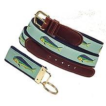 Preston Leather Mahi Mahi Belt, Mint, Sizes 30 to 50, FREE Matching Key Ring