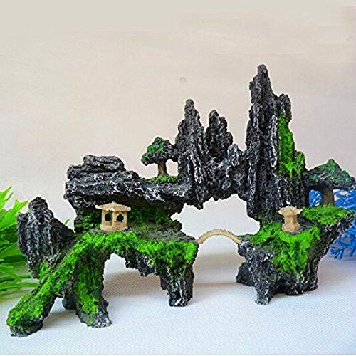 Kangkang@ Pet Fish Tank Aquarium Rockery Bridge Landscape Rockery Adornment, Decorate the Garden Pond Aquariums Rockery Decoration/scenery Package Fish Tank Aquarium Fake Rocks